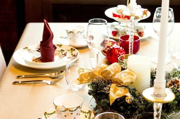 クリスマスのディナー風景