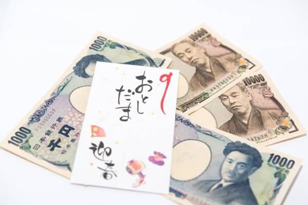 お年玉袋と紙幣