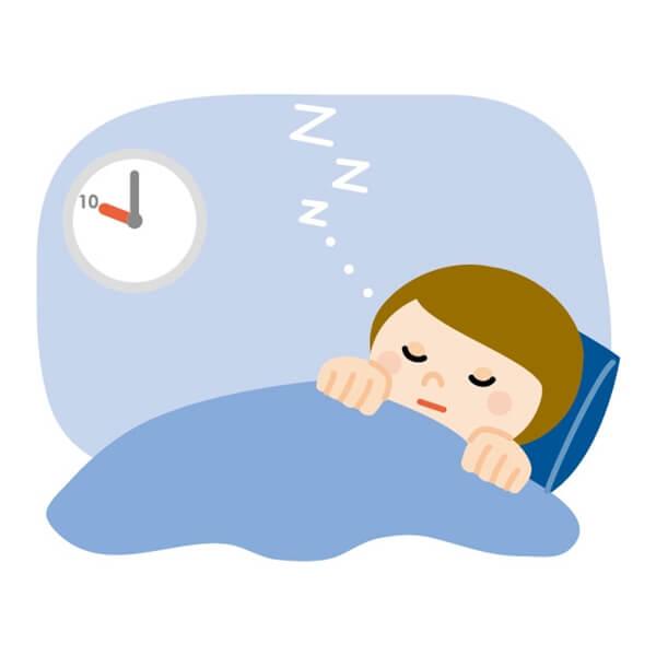 早寝する女性