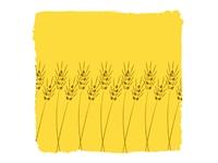 麦をあしらった柄