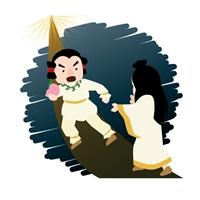 日本神話の1シーン
