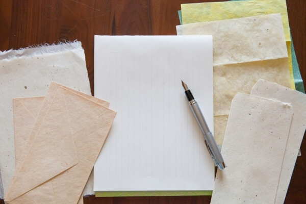 ペンと便箋