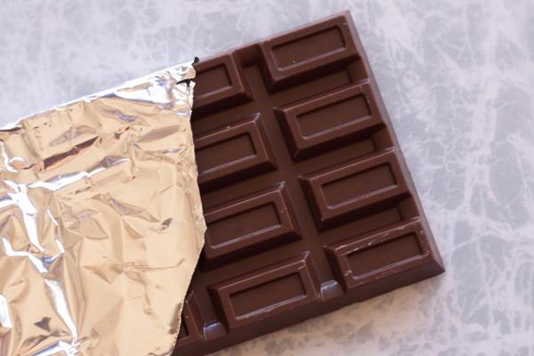 銀紙に包まれた板チョコ