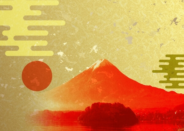 富士山と日の丸のイメージ