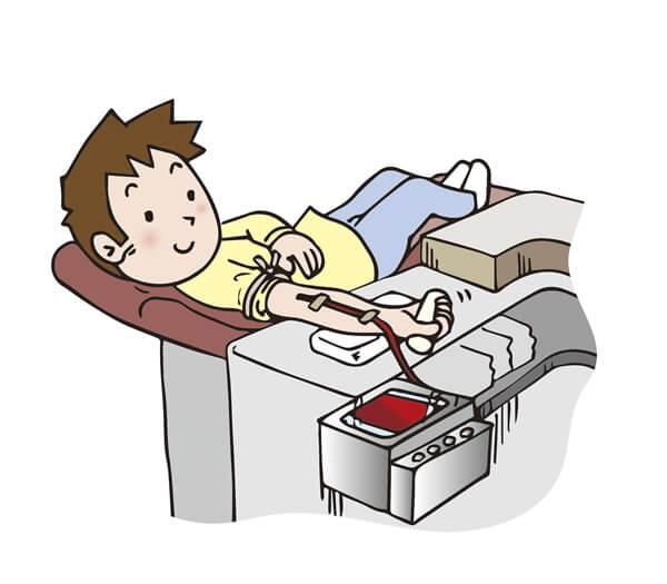 献血する男性