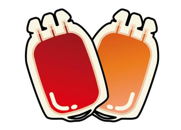 献血されたパック