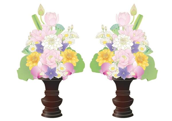 2対の盆花