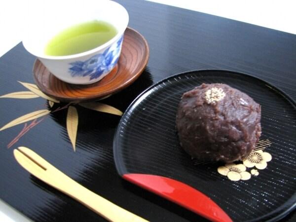 おはぎと緑茶