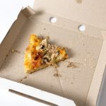 残った宅配ピザの1ピース