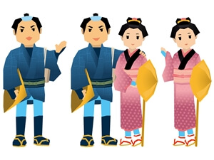 江戸時代の男女
