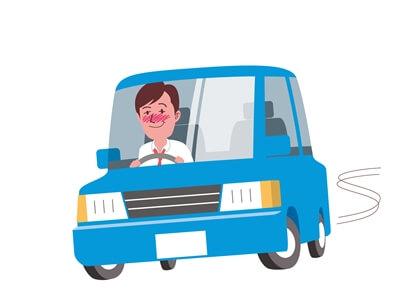 酒気帯び運転するドライバー