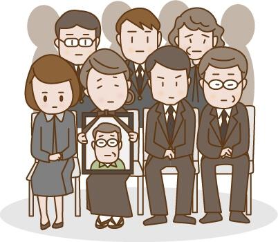 葬儀に集まった親族たち