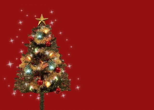 モミの木のクリスマスツリー