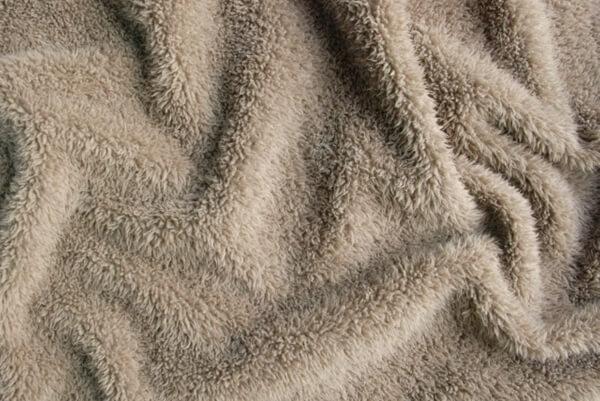 ベージュの毛布