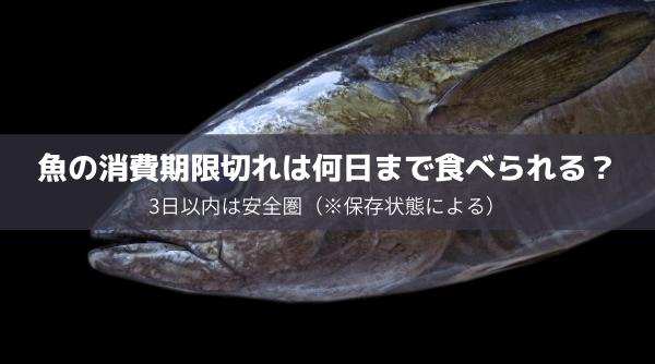 魚の消費期限切れは何日まで食べられる?