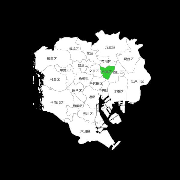 台東区の位置