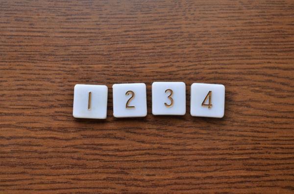 1234の数字の並び