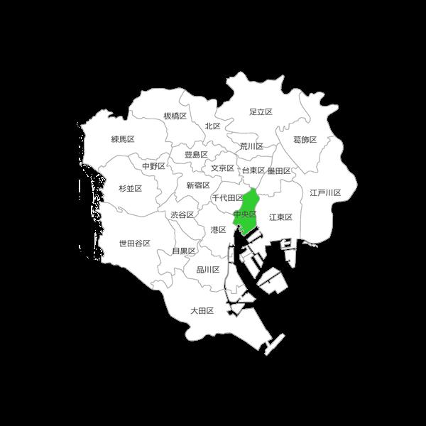 東京都中央区の位置