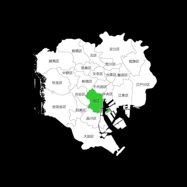東京都23区の港区の位置